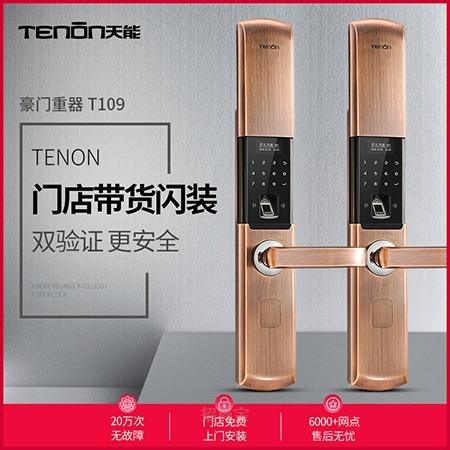 亚太天能指纹锁T109 智能锁电子门锁指纹密码锁